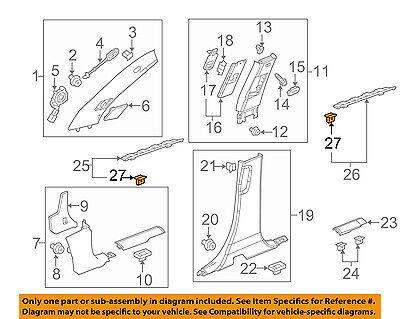 GM OEM Interior-Scuff Plate Retainer 11570612