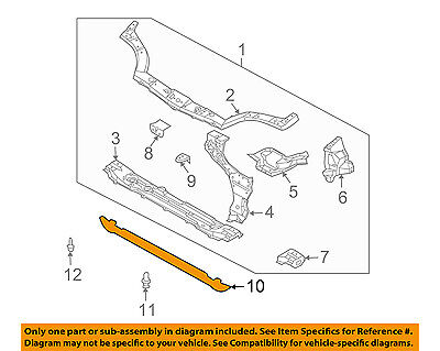 Chevrolet GM OEM Aveo Radiator Core Support-Air Baffle Duct Deflector 96490591
