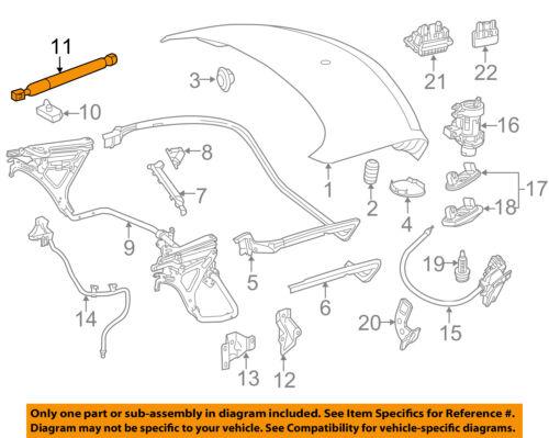 Mercedes MERCEDES-BENZ OEM SLK350 Trunk-Lift Support Strut Shock Arm 1729800464