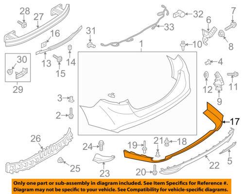 Lincoln FORD OEM 13-16 MKZ-Spoiler Valance Panel DP5Z17810AB