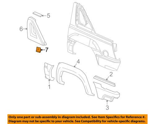 03-05 Avalanche 03-04 Trailblazer B-Pillar North Face Edition Emblems NEW GM PR