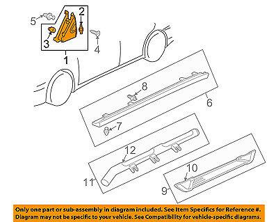 Acura HONDA OEM 01-06 MDX Exterior-Corner Molding Right 75490S3VA00