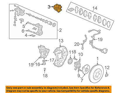 Acura HONDA OEM 91-05 NSX Brake-Rear-Caliper Shield Left 43258SL0000