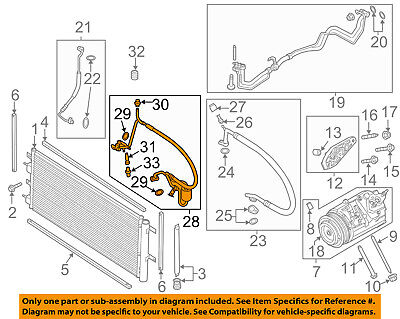 FORD OEM 13-16 Fusion Air Conditioner-Discharge Hose DG9Z19972C
