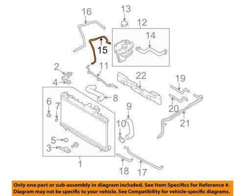 Subaru Oem 02 05 Impreza 2 0l H4 Radiator Coolant Hose 45162ae000 Ebay