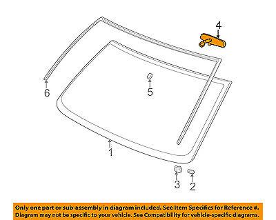 GM OEM Inside-Rearview Rear View Mirror 25603373