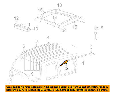 Jeep CHRYSLER OEM Roof Rack Rail Luggage Carrier-Side Rail Cap Right 55360426AC