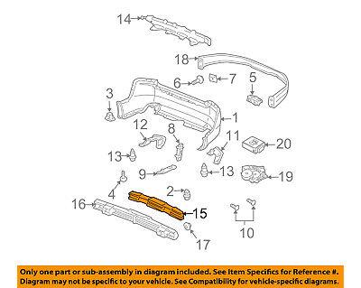 Acura HONDA OEM 04-08 TL Bumper Face-Foam Impact Absorber Bar 71570SEPH01
