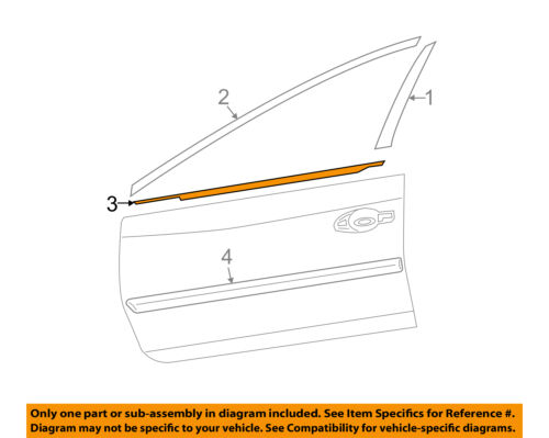 Genuine Nissan Belt Molding 80820-3TA0A