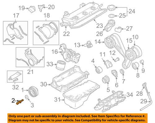Mitsubishi OEM 97-03 Montero Sport 3.0L-V6 Motor-crnkshft POLEA Perno  1100A141   eBay   97 Montero Sport Engine Diagram      eBay