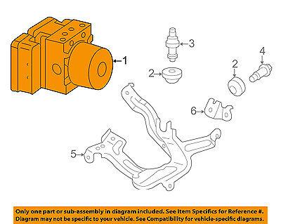 HONDA OEM 14-15 CR-Z ABS Anti-lock Brakes-Modulator Valve 57110SZT415