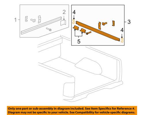 Hummer GM OEM 09-10 H3T Pick Up Box Bed-Side Rail 93356845