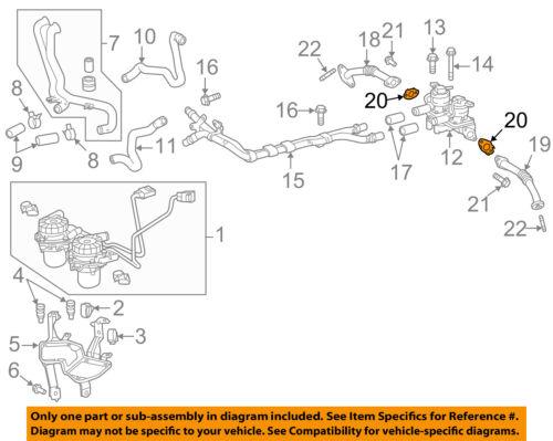 TOYOTA OEM 07-13 Tundra 5.7L-V8 Emission-Air Tube Gasket 1737638020 | eBayeBay