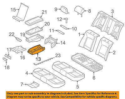 BMW OEM 13-15 760Li Rear Seat-Armrest Base 52207360720
