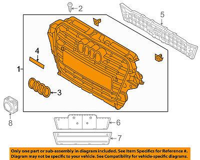AUDI OEM 13-17 Q5-Grille 8R0853651ALT94