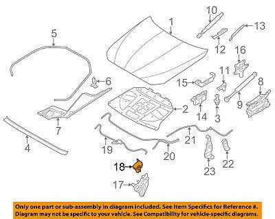 BMW OEM 13-16 M5 Hood-Lock Latch 51237183764