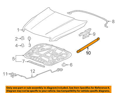 Cadillac GM OEM 13-15 ATS Hood-Lift Support Strut Shock Prop Arm 20933968