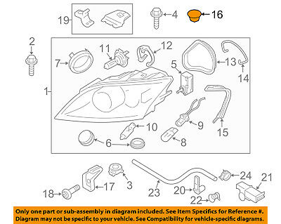 AUDI OEM 05-16 A6 Quattro Headlight Head Light Lamp-Adjust Cap 4E0941041