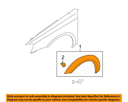 OEM Rear Passenger Side Fender Flare Wheel Molding 01-06 Chevrolet GMC 10395707