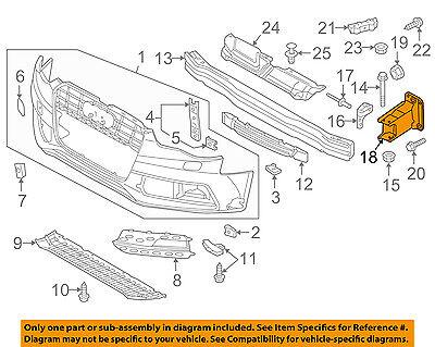 AUDI OEM A4 Quattro Front Bumper Grille Grill-Bumper Bracket Right 8K0807134D