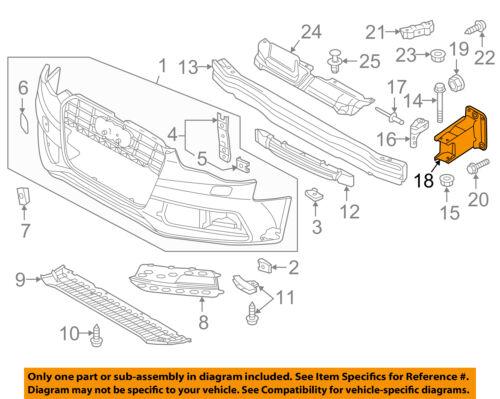AUDI OEM A4 Quattro Front Bumper Grille Grill-Bumper Bracket Left 8K08