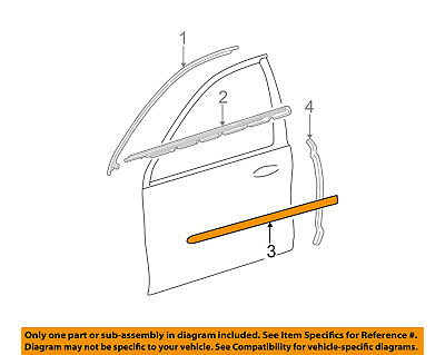 FORD OEM FRONT DOOR-Body Side Molding Right 2F4Z5420878CAPTM