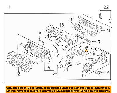 Acura HONDA OEM 91-05 NSX Rear Body-End Left 65690SL0300ZZ