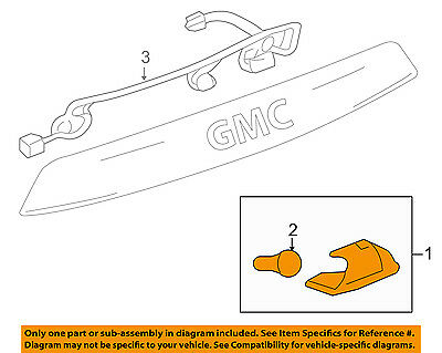 GM OEM License Plate Light-Lamp 13502178