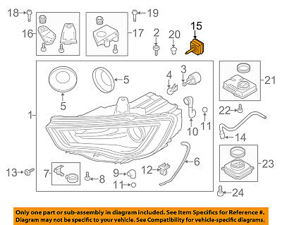 AUDI OEM 09-16 Q5-Headlight Headlamp Bulb N10721805