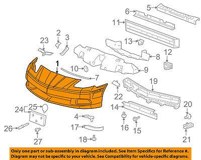 Chevrolet GM OEM 05-13 Corvette-Bumper Cover 15915331