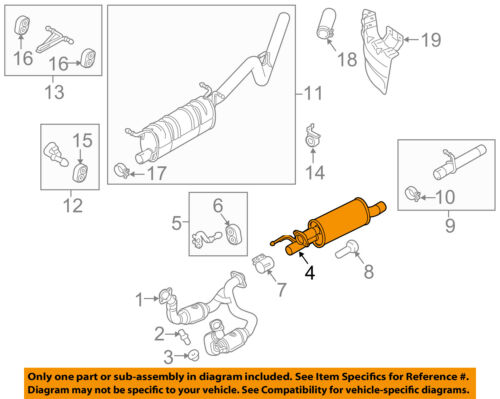 details about ford oem 11 16 f 250 super duty 6 2l v8 exhaust system exhaust pipe bc3z5201a  ford f 250 exhaust diagram #13