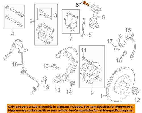 FORD OEM Brake-Front-Caliper Mount Bracket Bolt W715623S439