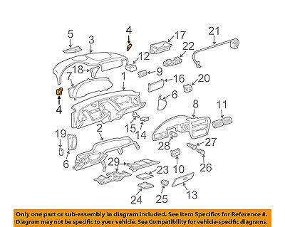 Chevrolet GM OEM Dash Heater-Defroster Air Outlet Vent Grille Left 22572635