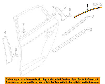 AUDI OEM 15 18 A3 Exterior Rear Frame Molding Right 8V5839644C2ZZ
