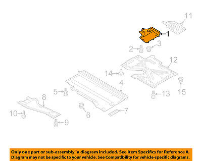 AUDI OEM 09-16 A4 Quattro Floor Rails-Front Shield Left 8K0825201E