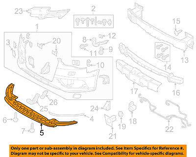 AUDI OEM 15 16 A3 Front Bumper Grille Lower Cover 8V5807233A