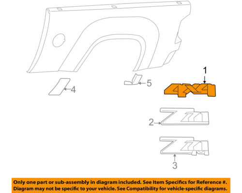 Genuine GM Accessories 25798301 Decal