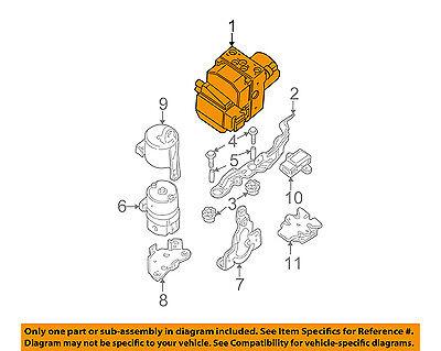 BMW OEM 04-06 X5 ABS Anti-Lock Brake System-Motor & Pump 34516773013