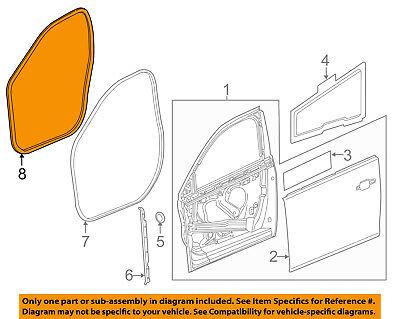 GM OEM Front Door-Front Weatherstrip Seal Left 20964208
