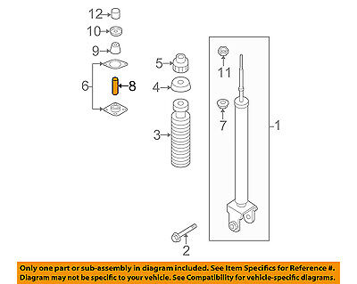 (NISSAN OEM Rear Suspension-Shock Mount Spacer 553232Y00B)