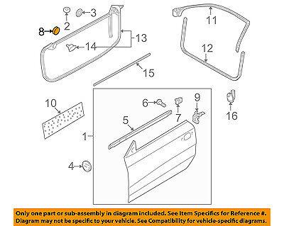 AUDI OEM 12-17 A7 Quattro DOOR-Reinforcement Beam Cap N90968501