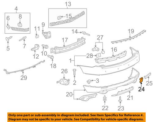 Cadillac Rear bumper access hole cover Cover 10-16 SRX 25777324