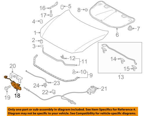 MAZDA OEM 10-13 3 Hood-Lock Latch BBM656620