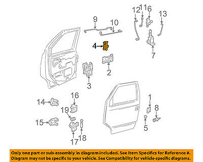 GM OEM Front Door-Lock Latch Kit 15063272