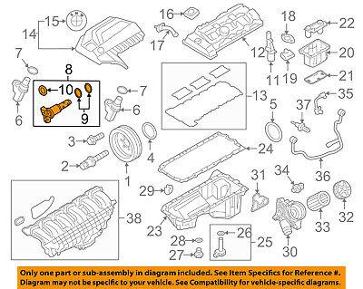 BMW OEM 08-16 X6 VVT Variable Valve Timing-Control Valve Solenoid 11368605123