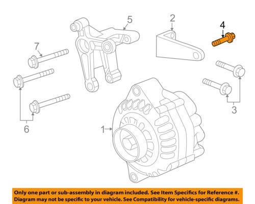 Pontiac GM OEM 05-06 GTO 6.0L-V8-Alternator Bolt 11091693   eBay   2006 Gto Engine Diagram      eBay