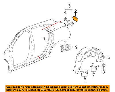 GM OEM Pick Up Box Bed-Fuel Door Gas Cap Hatch 23505178
