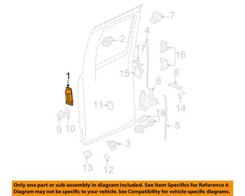Genuine GM Parts 15758172 Driver Side Rear Door Handle Outer Genuine General Motors Parts