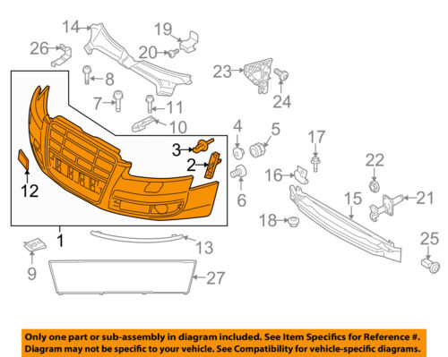 AUDI OEM 07-11 S6-Bumper Cover 4F0807105LGRU