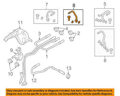 BMW OEM 12-18 M6 4.4L-V8 Cooling-Outlet Pipe Left 11538053161